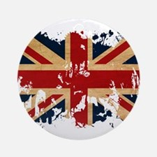 United Kingdom Flag Ornament (Round)