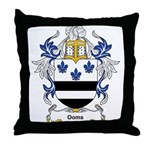 Ooms Coat of Arms Throw Pillow
