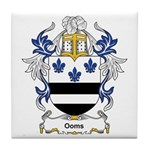 Ooms Coat of Arms Tile Coaster