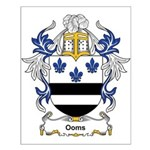 Ooms Coat of Arms Small Poster