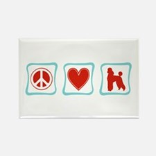 Peace, Love and Poodles Rectangle Magnet
