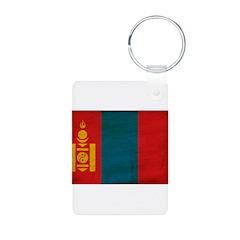 Mongolia Flag Aluminum Photo Keychain