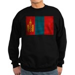 Mongolia Flag Sweatshirt (dark)
