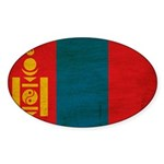 Mongolia Flag Sticker (Oval 50 pk)