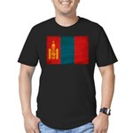 Mongolia Flag Men's Fitted T-Shirt (dark)