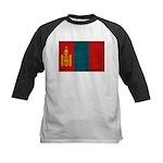 Mongolia Flag Kids Baseball Jersey
