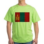 Mongolia Flag Green T-Shirt