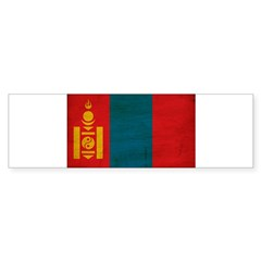 Mongolia Flag Bumper Sticker