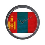 Mongolia Flag Wall Clock