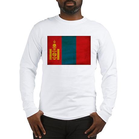 Mongolia Flag Long Sleeve T-Shirt