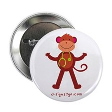 """Monkey Medical Professional 2.25"""" Button"""