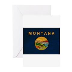 Montana Flag Greeting Cards (Pk of 20)