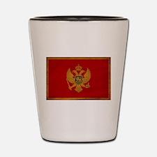 Montenegro Flag Shot Glass
