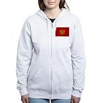 Montenegro Flag Women's Zip Hoodie
