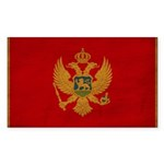 Montenegro Flag Sticker (Rectangle 50 pk)