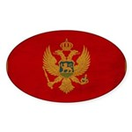 Montenegro Flag Sticker (Oval 50 pk)
