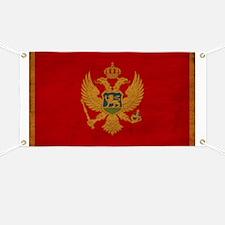 Montenegro Flag Banner