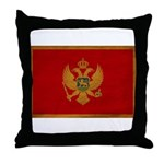 Montenegro Flag Throw Pillow