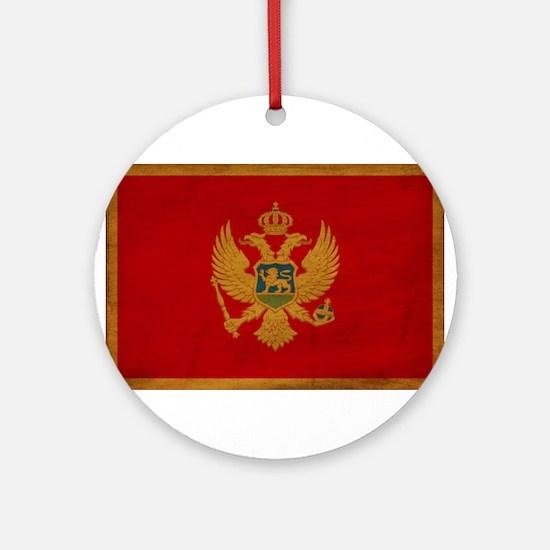 Montenegro Flag Ornament (Round)