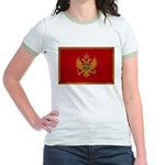 Montenegro Flag Jr. Ringer T-Shirt