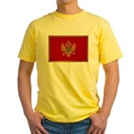 Montenegro Flag Yellow T-Shirt