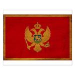 Montenegro Flag Small Poster