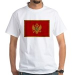 Montenegro Flag White T-Shirt