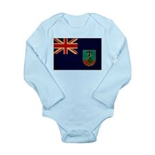 Montserrat Flag Long Sleeve Infant Bodysuit