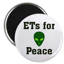 "ETs for Peace 2.25"" Magnet (10 pack)"
