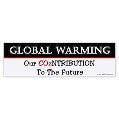 B&W Our Contribution... Bumper Bumper Sticker