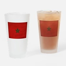 Morocco Flag Drinking Glass