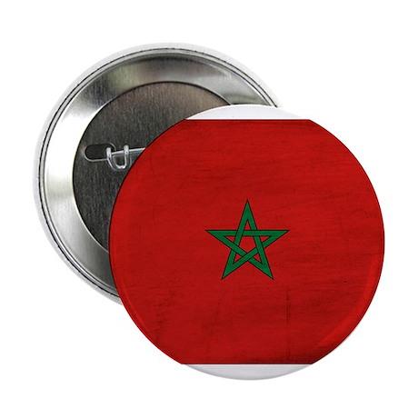 """Morocco Flag 2.25"""" Button"""
