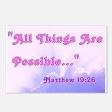 """""""Christian Possible"""" Postcards (Package of 8)"""