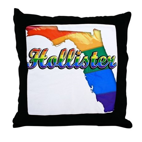 Hollister, Florida, Gay Pride, Throw Pillow