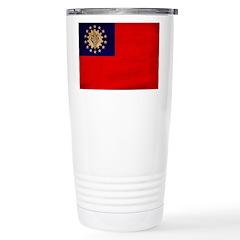 Myanmar Flag Stainless Steel Travel Mug