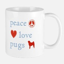 Peace, Love and Pugs Mug