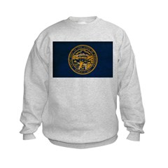 Nebraska Flag Kids Sweatshirt