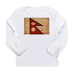 Nepal Flag Long Sleeve Infant T-Shirt