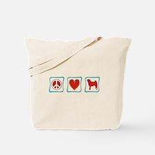 Peace, Love and Pugs Tote Bag