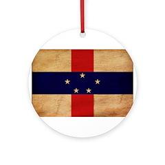Netherlands Antilles Flag Ornament (Round)