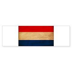 Netherlands Flag Bumper Sticker