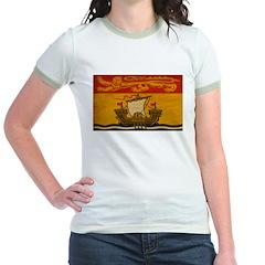 New Brunswick Flag Jr. Ringer T-Shirt