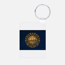 New Hampshire Flag Aluminum Photo Keychain