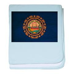 New Hampshire Flag baby blanket