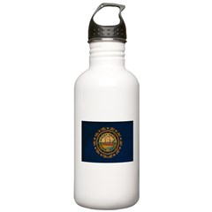 New Hampshire Flag Water Bottle