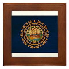 New Hampshire Flag Framed Tile