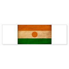 Niger Flag Sticker (Bumper)