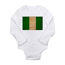 Nigeria Flag Long Sleeve Infant Bodysuit