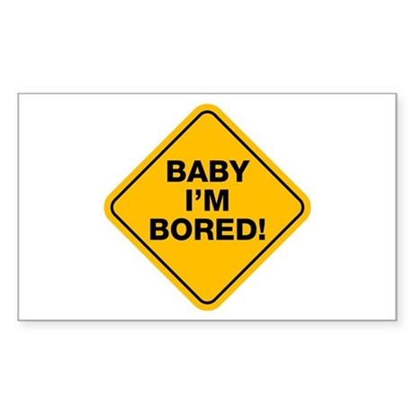 Bored baby Rectangle Sticker