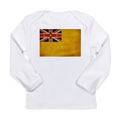 Niue Flag Long Sleeve Infant T-Shirt
